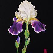 Картины и панно handmade. Livemaster - original item Painting pastel iris artist Kristina Gavrilova. Handmade.
