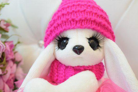 """Игрушки животные, ручной работы. Ярмарка Мастеров - ручная работа. Купить Зайка ,, Розовая Улыбашка """". Handmade. Зайка девочка"""
