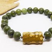 Украшения handmade. Livemaster - original item Jade bracelet Sage and turtle. Handmade.