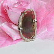 Украшения handmade. Livemaster - original item Ring gray with a cut of agate. Handmade.