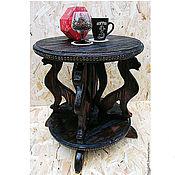 Столы ручной работы. Ярмарка Мастеров - ручная работа Кофейный деревянный столик ручной работы Coffee Cats. Handmade.