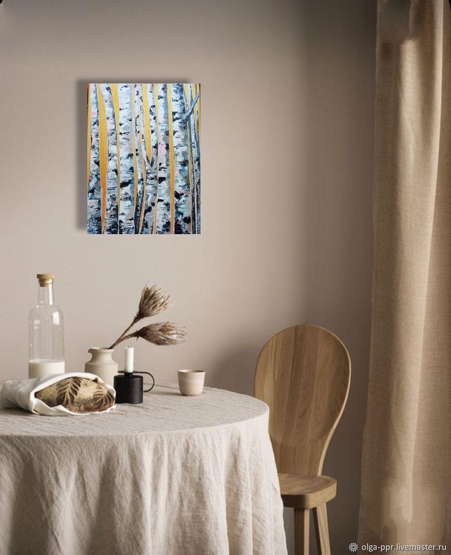 Березы на золотом фоне, Картины, Шаховская,  Фото №1