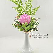 Цветы и флористика ручной работы. Ярмарка Мастеров - ручная работа Роза из полимерной глины в подарочном конверте. Handmade.