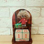Канцелярские товары handmade. Livemaster - original item Eternal calendar Domovoy Kuzya. Handmade.