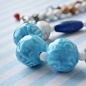 Украшения handmade. Livemaster - original item Beads of ceramics and stones sailor. Handmade.
