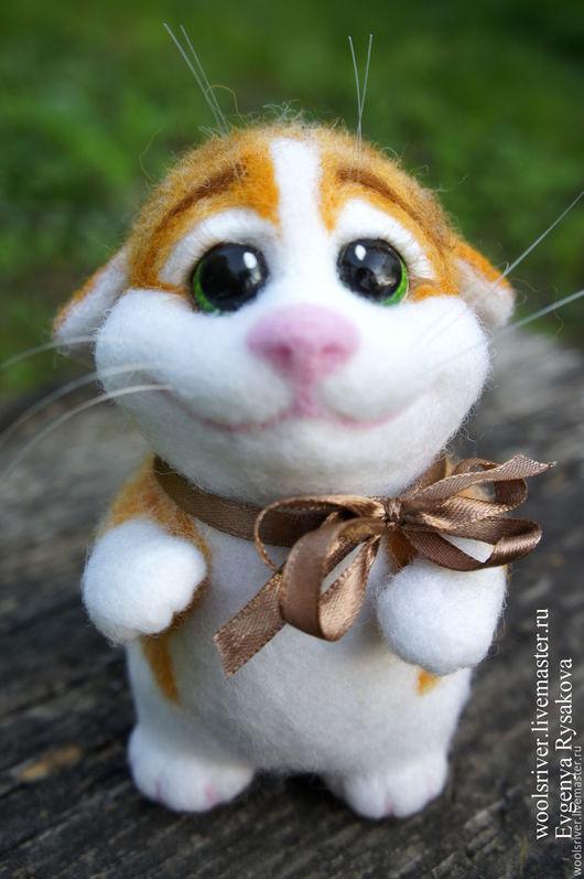 Игрушки животные, ручной работы. Ярмарка Мастеров - ручная работа. Купить Валяный кот Еремей. Handmade. Рыжий, Латвийский кардочёс