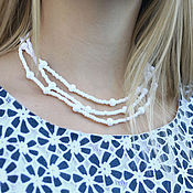 Украшения handmade. Livemaster - original item jewelry set white. Handmade.