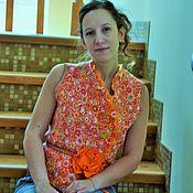 Одежда ручной работы. Ярмарка Мастеров - ручная работа Жилет валяный Оранжевое настроение. Handmade.