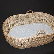 Для дома и интерьера ручной работы. Ярмарка Мастеров - ручная работа Матрас в плетеную из ивы детскую люльку. Handmade.