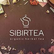 Дизайн ручной работы. Ярмарка Мастеров - ручная работа Логотип для таёжных чаёв Sibirtea. Handmade.