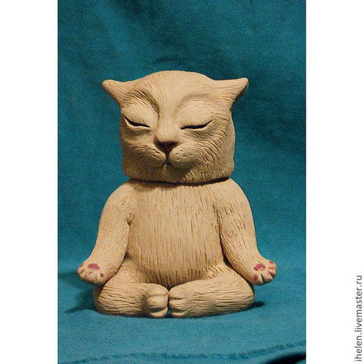 """Компьютерные ручной работы. Ярмарка Мастеров - ручная работа. Купить Флешка """"Котик-дзен"""". Handmade. Бежевый, кот, дзен, флешка"""