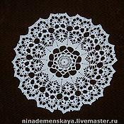 Для дома и интерьера ручной работы. Ярмарка Мастеров - ручная работа Салфетка с узором из цветов. Handmade.
