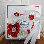 Открытки ручной работы. Ярмарка Мастеров - ручная работа Свадебная коробочка для денег Рафаэлло. Handmade.
