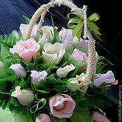 Цветы и флористика ручной работы. Ярмарка Мастеров - ручная работа Свадебный букет. Handmade.