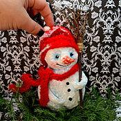 Куклы и игрушки ручной работы. Ярмарка Мастеров - ручная работа Игрушка Снеговик (ватное папье-маше). Handmade.