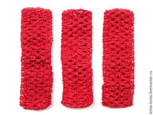 Для украшений ручной работы. Ярмарка Мастеров - ручная работа. Купить Повязка для волос. Красная, 7 см.. Handmade.