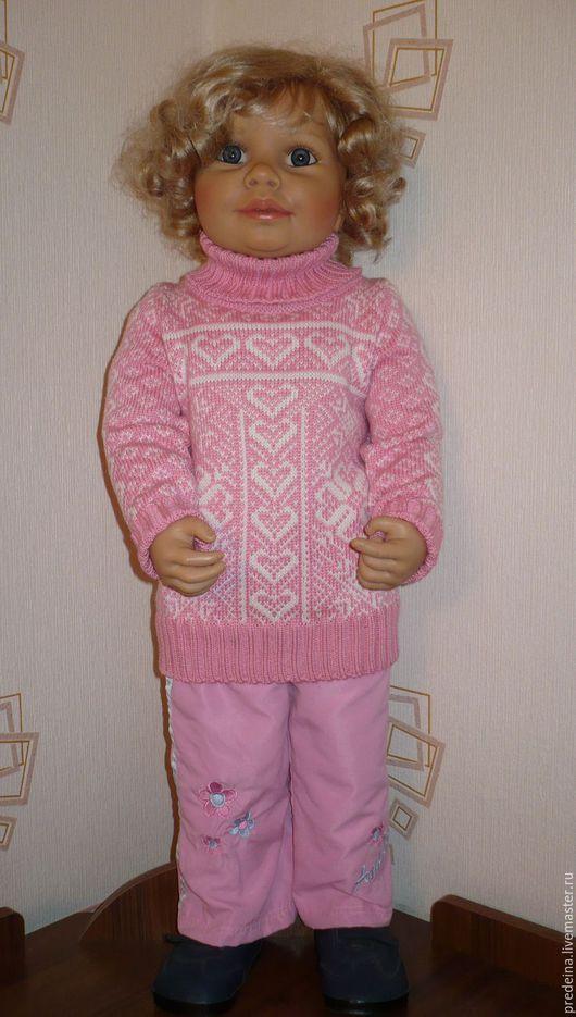 """Одежда для девочек, ручной работы. Ярмарка Мастеров - ручная работа. Купить детский свитер """"Северная сказка"""". Handmade. Розовый"""