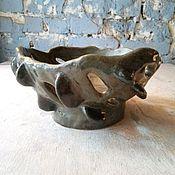 """Для дома и интерьера ручной работы. Ярмарка Мастеров - ручная работа чаша для крубка или для фруктов """"ящер"""". Handmade."""