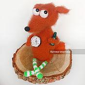 Куклы и игрушки handmade. Livemaster - original item Fox with a donut. Handmade.