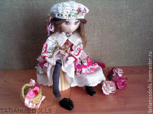 Коллекционные куклы ручной работы. Ярмарка Мастеров - ручная работа. Купить Шарлотта. Кукла текстильная.. Handmade. Бежевый, кукла в подарок
