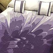 """Для дома и интерьера ручной работы. Ярмарка Мастеров - ручная работа Покрывало 2,65x2,75 двустороннее """"сиреневый цветок"""". Handmade."""