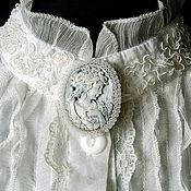 Одежда ручной работы. Ярмарка Мастеров - ручная работа Белая блуза для Дюймовочки. Handmade.