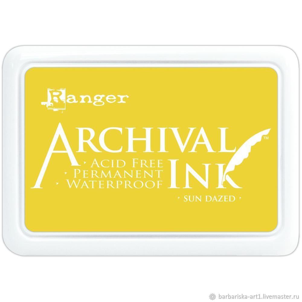 Чернильная подушечка Archival Ink Sun Dazed от Ranger, Инструменты для скрапбукинга, Смоленск,  Фото №1