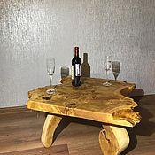 Столы ручной работы. Ярмарка Мастеров - ручная работа Столик из слэба в стиле лофт. Handmade.