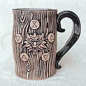 Субкультуры handmade. Livemaster - original item Mug ceramic Witcher. Handmade.