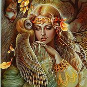Картины и панно ручной работы. Ярмарка Мастеров - ручная работа Подружка Осень (панно-картина). Handmade.