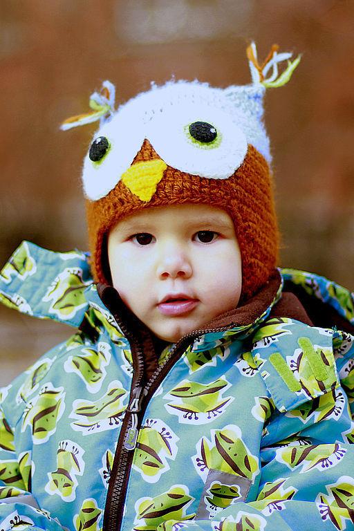 """Шапки и шарфы ручной работы. Ярмарка Мастеров - ручная работа. Купить шапочка """"Сова"""". Handmade."""