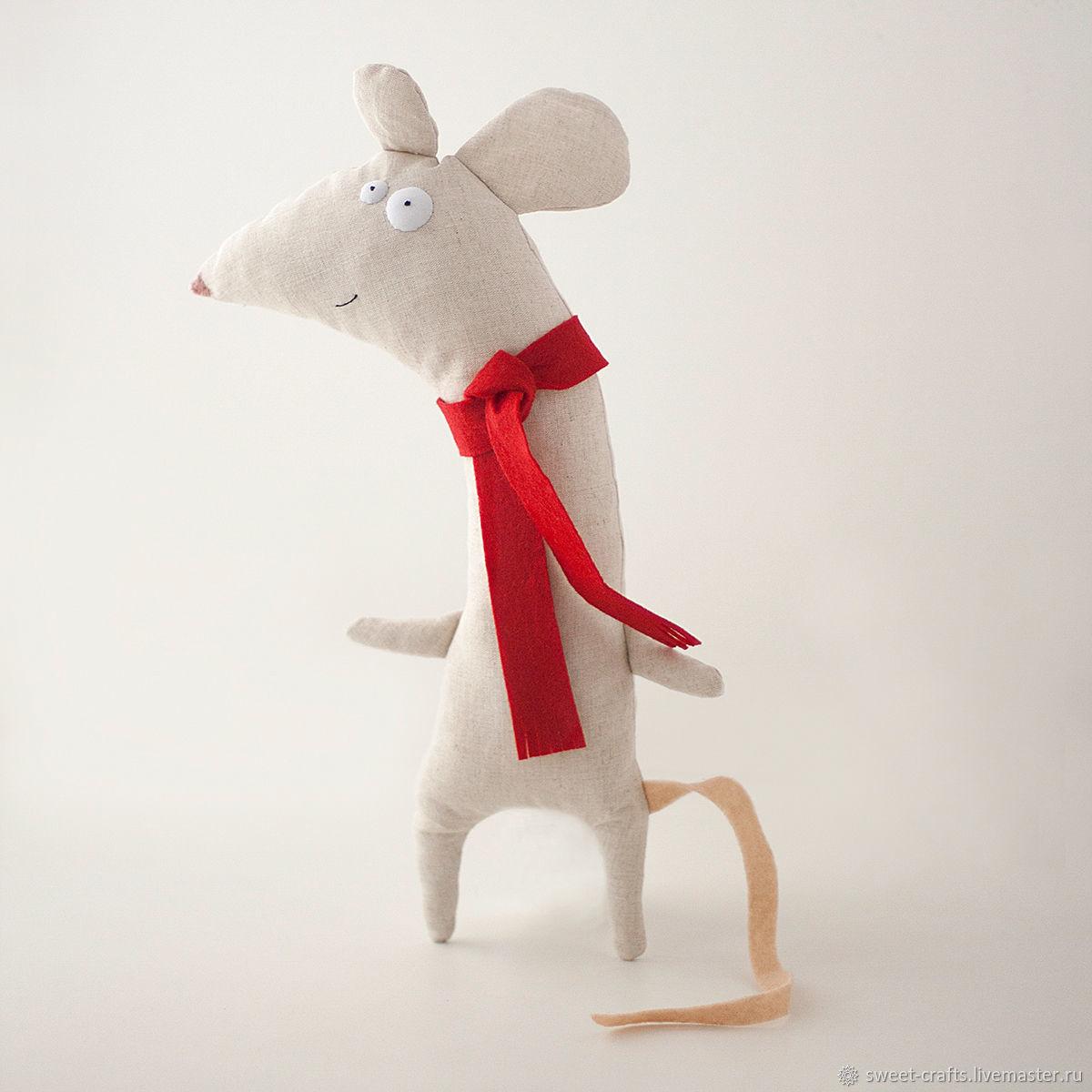 Мягкая игрушка Мышка из льна, Мягкие игрушки, Нижний Новгород,  Фото №1