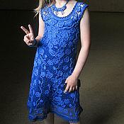 """Работы для детей, ручной работы. Ярмарка Мастеров - ручная работа Платье крючком """"Желание"""". Handmade."""