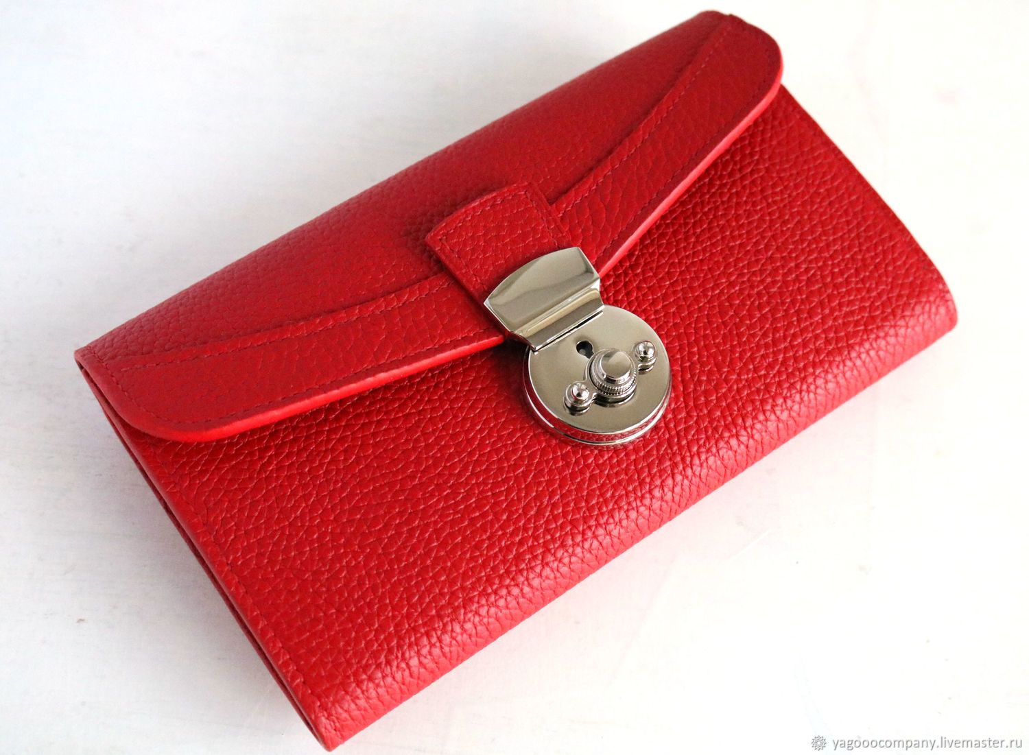 Leather wallet. Handmade, Wallets, Moscow,  Фото №1