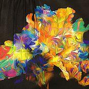 """Одежда ручной работы. Ярмарка Мастеров - ручная работа Блузка шелковая """"Акварельный цветок"""". Handmade."""