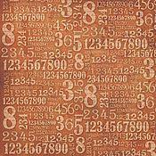 Цифры (DFT223) - 50х50 рисовая бумага