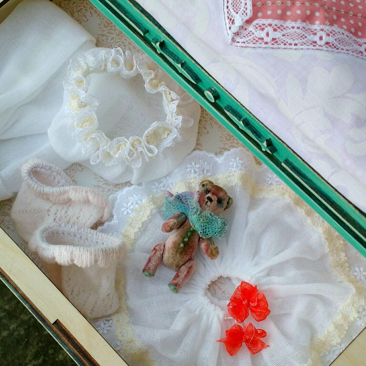 Деревянная кроватка с выдвижным ящиком и постелью для куклы или мишки, Мебель для кукол, Апшеронск,  Фото №1