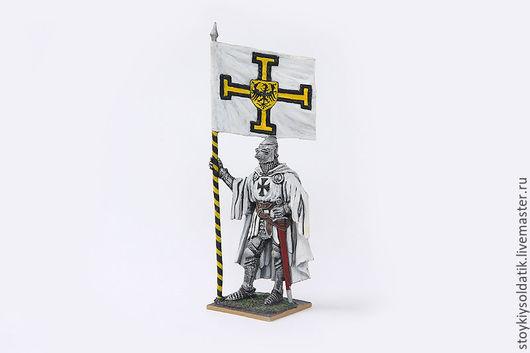 Миниатюра ручной работы. Ярмарка Мастеров - ручная работа. Купить Тевтонский рыцарь со знаменем Ордена, 1400 год. Handmade. Комбинированный