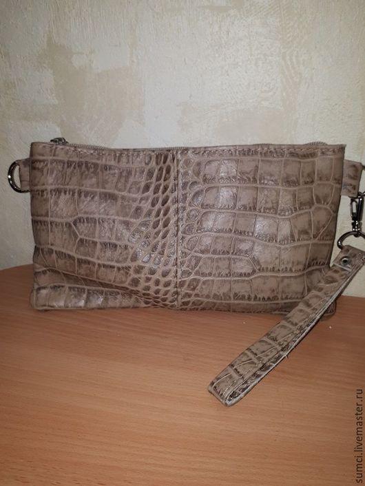 Женские сумки ручной работы. Ярмарка Мастеров - ручная работа. Купить клатч из натуральной кожи в наличии. Handmade. Бежевый