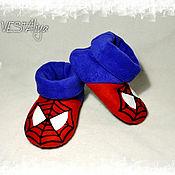 Обувь ручной работы handmade. Livemaster - original item Spider-Man Slippers. Handmade.