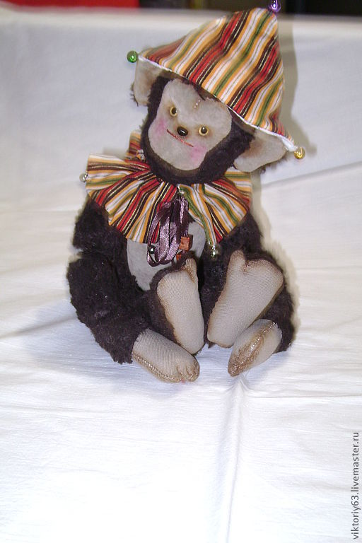 Мишки Тедди ручной работы. Ярмарка Мастеров - ручная работа. Купить Обезьянка. Handmade. Коричневый, обезьянка, цирк, вискоза италия
