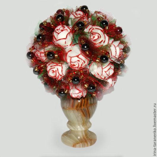 Цветы из гематита `Любовная страсть`