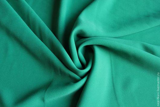 Шитье ручной работы. Ярмарка Мастеров - ручная работа. Купить 47001 итальянский креп-стрейч. Handmade. Зеленый, итальянский креп