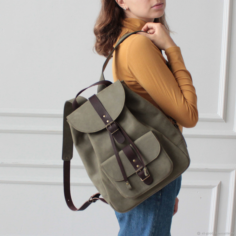 """Кожаный рюкзак """"City Travel Bag - Лавровый"""", Рюкзаки, Москва,  Фото №1"""