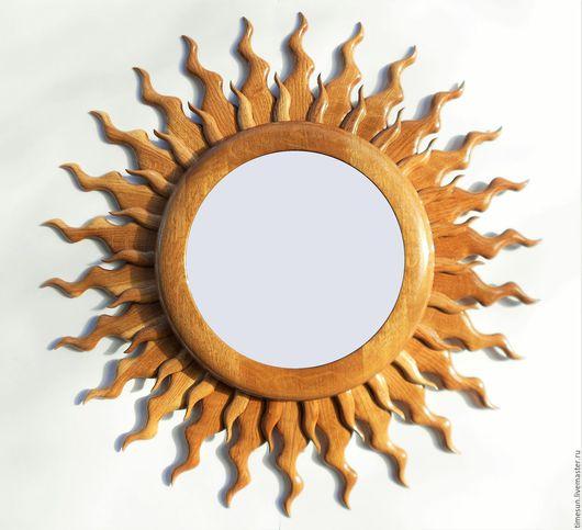 """Зеркала ручной работы. Ярмарка Мастеров - ручная работа. Купить Большое зеркало """"Солнце"""". Handmade. Зеркало, зеркало в деревянной раме"""