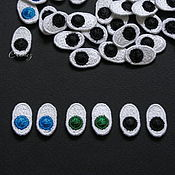 Материалы для творчества handmade. Livemaster - original item 2pcs embroidered eyes for toys and dolls stripe decal patches. Handmade.