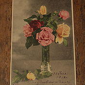 Винтаж handmade. Livemaster - original item Cards. Garland of roses. Roses.. Handmade.
