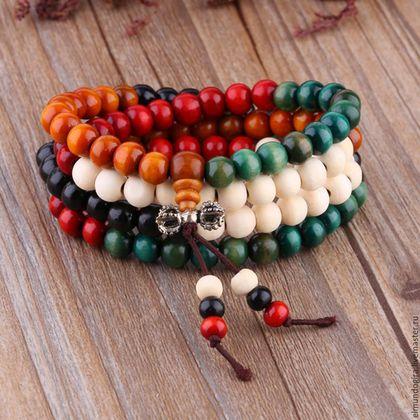 Четки ручной работы. Четки из сандалового дерева разноцветные. Из Африки с любовью. Ярмарка Мастеров. Четки православные, четки из дерева