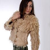 Одежда ручной работы. Ярмарка Мастеров - ручная работа Куртка валяная Косы. Handmade.
