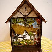 """Для дома и интерьера ручной работы. Ярмарка Мастеров - ручная работа Ключница """"Домик окнами в сад 2"""". Handmade."""